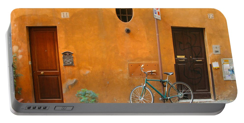 Rome Portable Battery Charger featuring the photograph Roman Doors by Thomas Marchessault