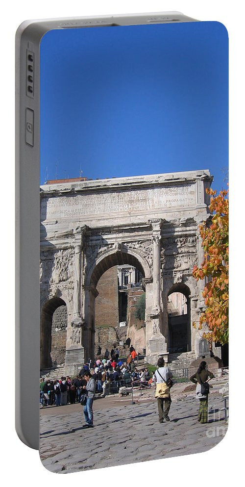 Rome Portable Battery Charger featuring the photograph Roman Fall by Clay Cofer