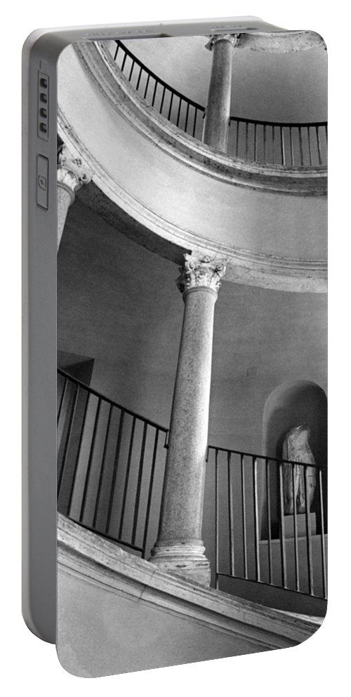Italy Portable Battery Charger featuring the photograph Roman Staircase by Donna Corless