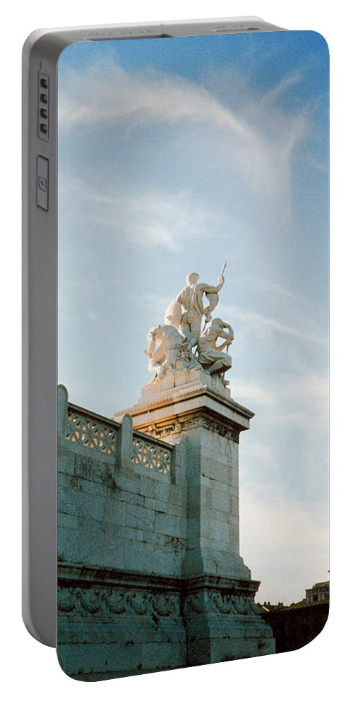 Statue Portable Battery Charger featuring the photograph Roman Statue by Douglas Barnett