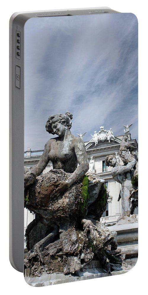 Rome Portable Battery Charger featuring the photograph Rome Piazza by Munir Alawi