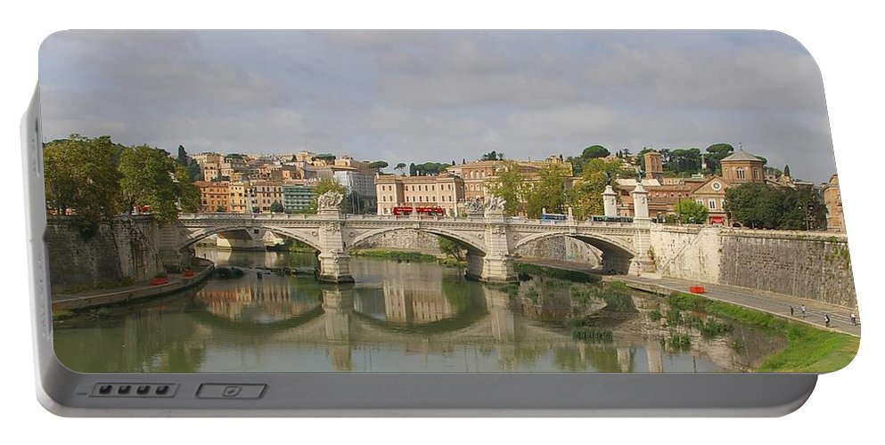Rome Portable Battery Charger featuring the photograph Rome Reflections by Tom Reynen