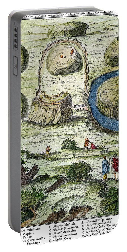 18th Century Portable Battery Charger featuring the photograph Rome: Seven Hills, 18th C by Granger