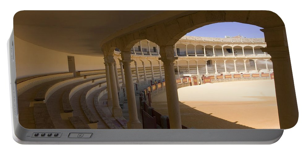 Bullfight Portable Battery Charger featuring the photograph Ronda Bullring The Real Maestranza De Caballeria by Mal Bray