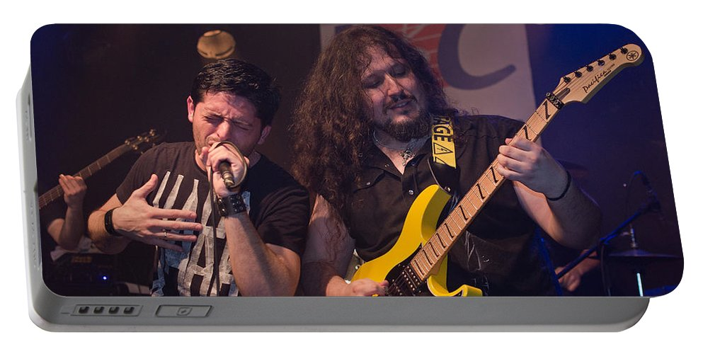 Ritchie Blackmore Portable Battery Charger featuring the photograph Ronnie Romero 11 by Pablo Lopez