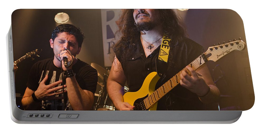 Ritchie Blackmore Portable Battery Charger featuring the photograph Ronnie Romero 12 by Pablo Lopez