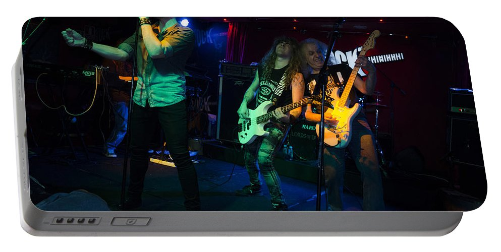 Ritchie Blackmore Portable Battery Charger featuring the photograph Ronnie Romero 24 by Pablo Lopez