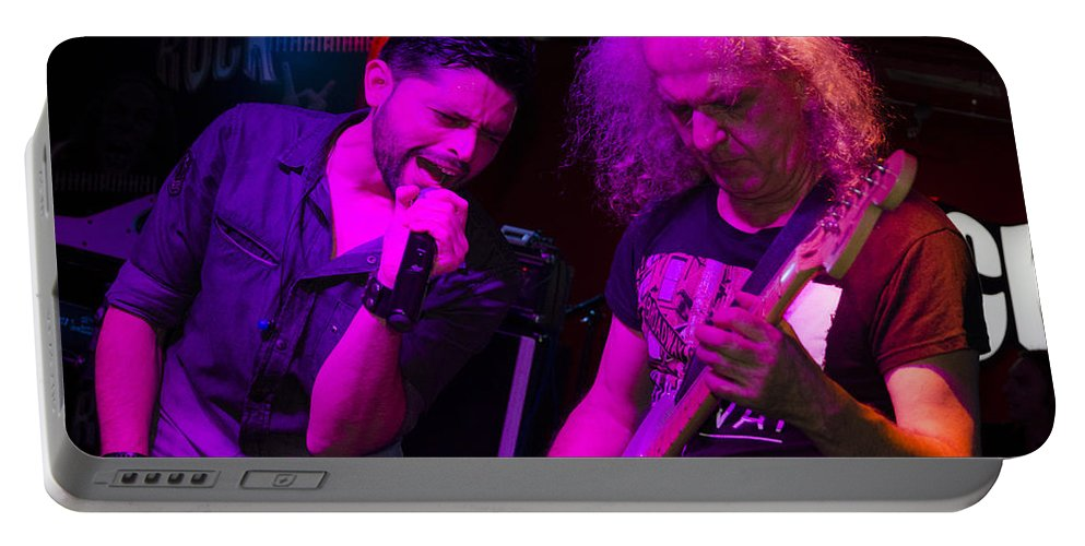 Ritchie Blackmore Portable Battery Charger featuring the photograph Ronnie Romero 25 by Pablo Lopez