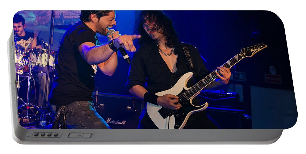 Ritchie Blackmore Portable Battery Charger featuring the photograph Ronnie Romero 35 by Pablo Lopez
