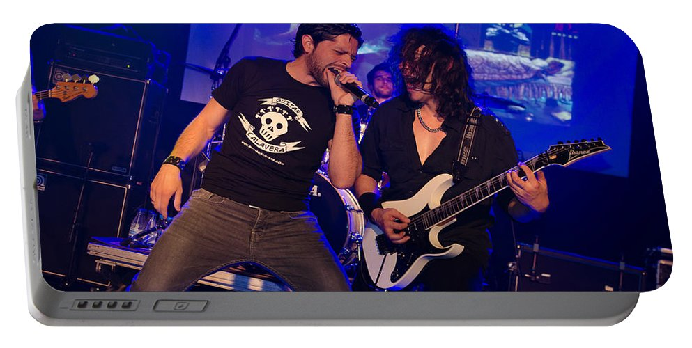 Ritchie Blackmore Portable Battery Charger featuring the photograph Ronnie Romero 38 by Pablo Lopez