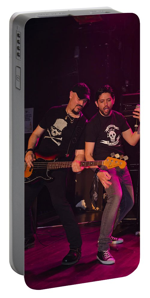 Ritchie Blackmore Portable Battery Charger featuring the photograph Ronnie Romero 41 by Pablo Lopez