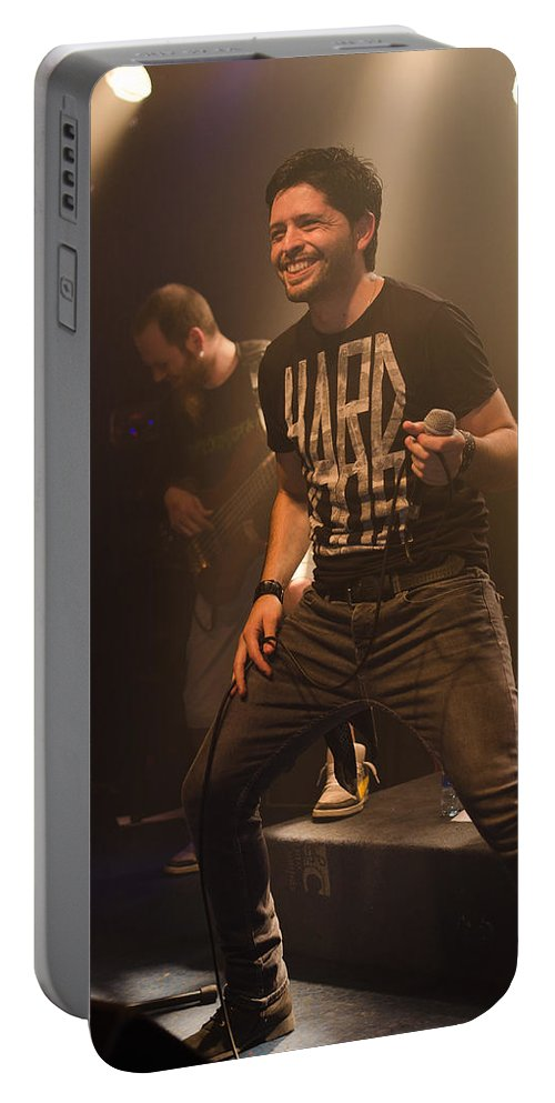 Ritchie Blackmore Portable Battery Charger featuring the photograph Ronnie Romero 8 by Pablo Lopez