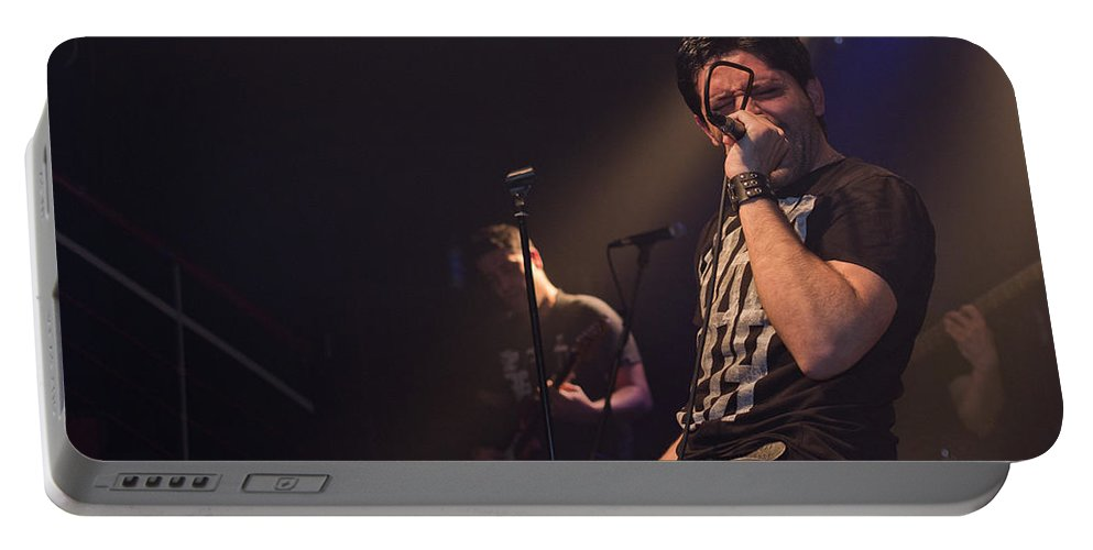Ritchie Blackmore Portable Battery Charger featuring the photograph Ronnie Romero 9 by Pablo Lopez