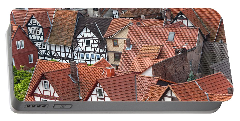 Deutschland Portable Battery Charger featuring the photograph Roofs Of Bad Sooden-allendorf by Heiko Koehrer-Wagner
