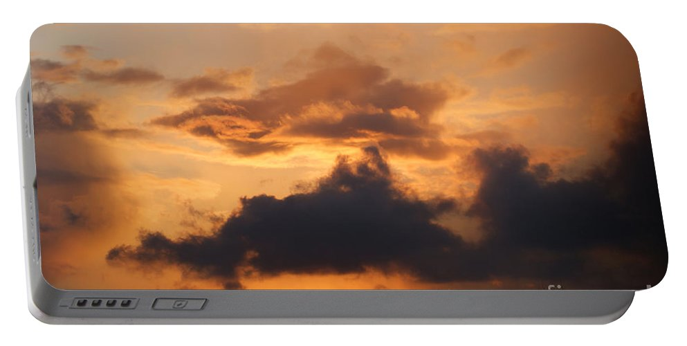 Sunset Portable Battery Charger featuring the photograph Rooftop Sunset 3 by Carol Lynch
