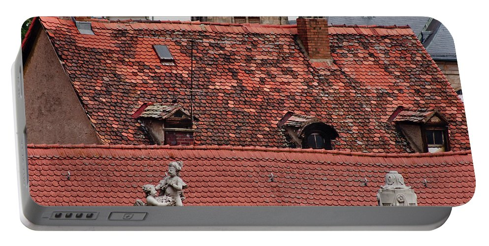 Bamberg Portable Battery Charger featuring the photograph Rooftops Of Bamberg II by Thomas Marchessault