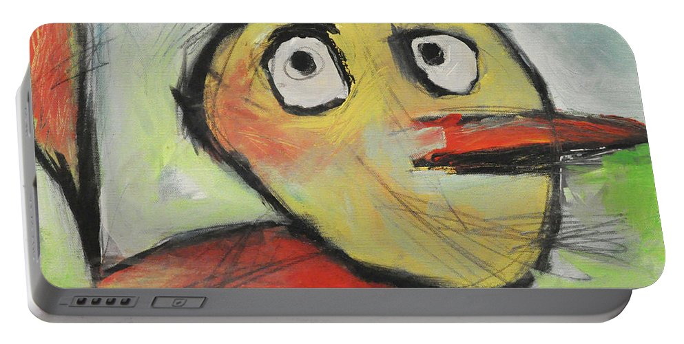 Kids' Drawing Portable Battery Charger featuring the painting Rooster by Tim Nyberg