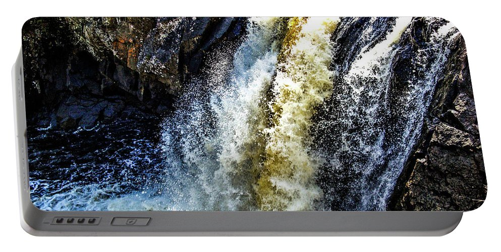 Falls Portable Battery Charger featuring the photograph Rootbeer Falls by Tommy Anderson