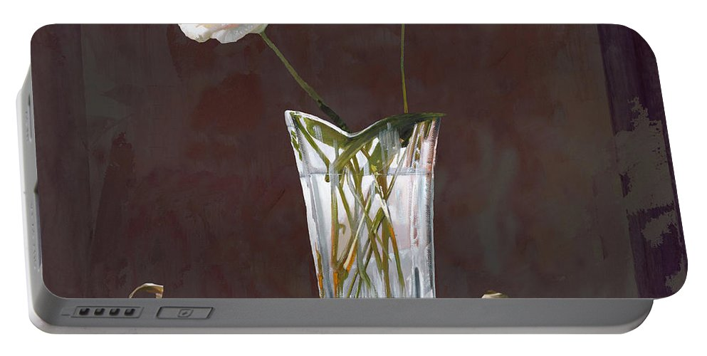 Rasa Portable Battery Charger featuring the painting Rosa Rosae by Guido Borelli