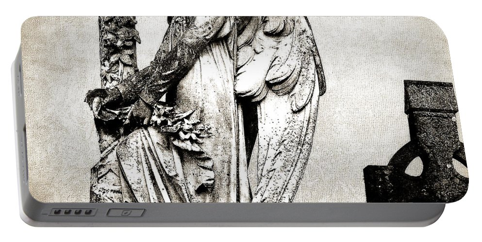 Ireland Portable Battery Charger featuring the photograph Roscommon Angel No 1 by Teresa Mucha
