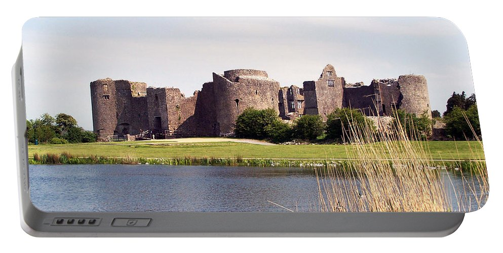 Roscommon Portable Battery Charger featuring the photograph Roscommon Castle Ireland by Teresa Mucha