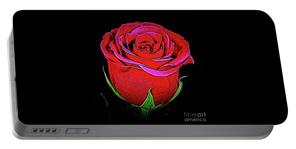 Rose 18-9 Portable Battery Charger featuring the photograph Rose 18-9 by Ray Shrewsberry