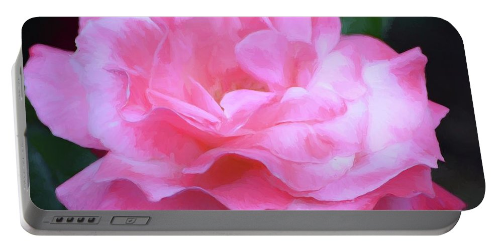 Floral Portable Battery Charger featuring the photograph Rose 384 by Pamela Cooper