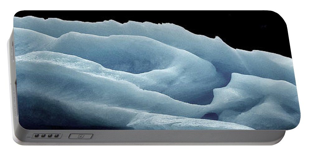 Abstract Portable Battery Charger featuring the photograph Rose Iceberg by Kedar Munshi