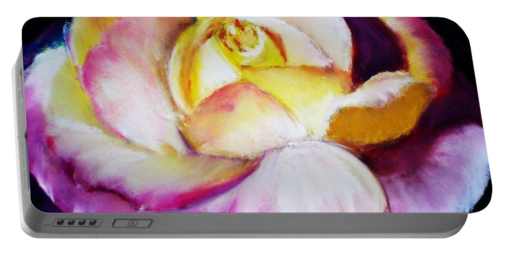 Rose Portable Battery Charger featuring the print Rose by Melinda Etzold