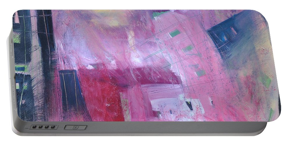 Rose Portable Battery Charger featuring the painting Rose Room by Tim Nyberg