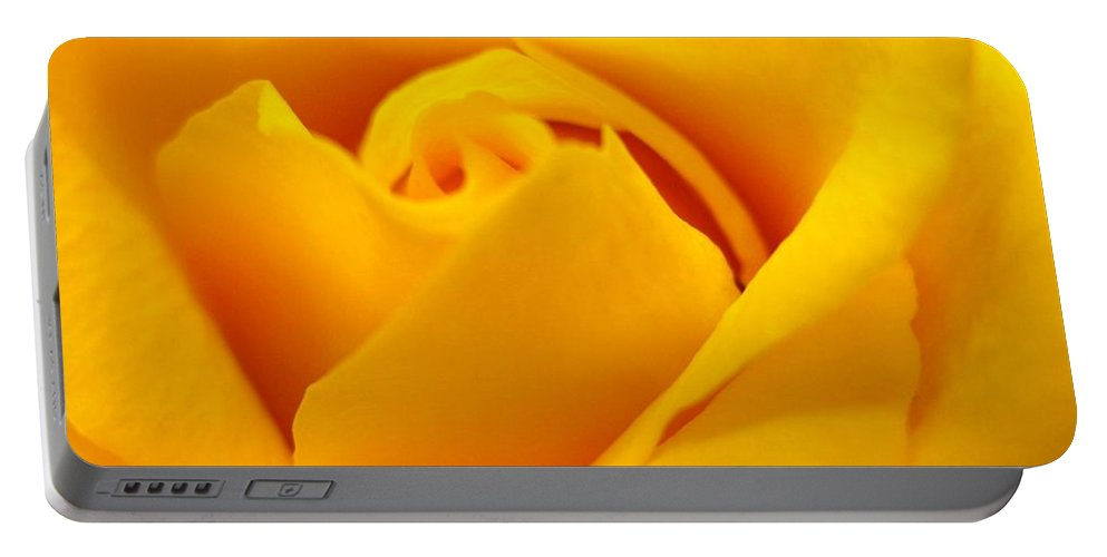 Rose Portable Battery Charger featuring the photograph Rose Yellow by Rhonda Barrett