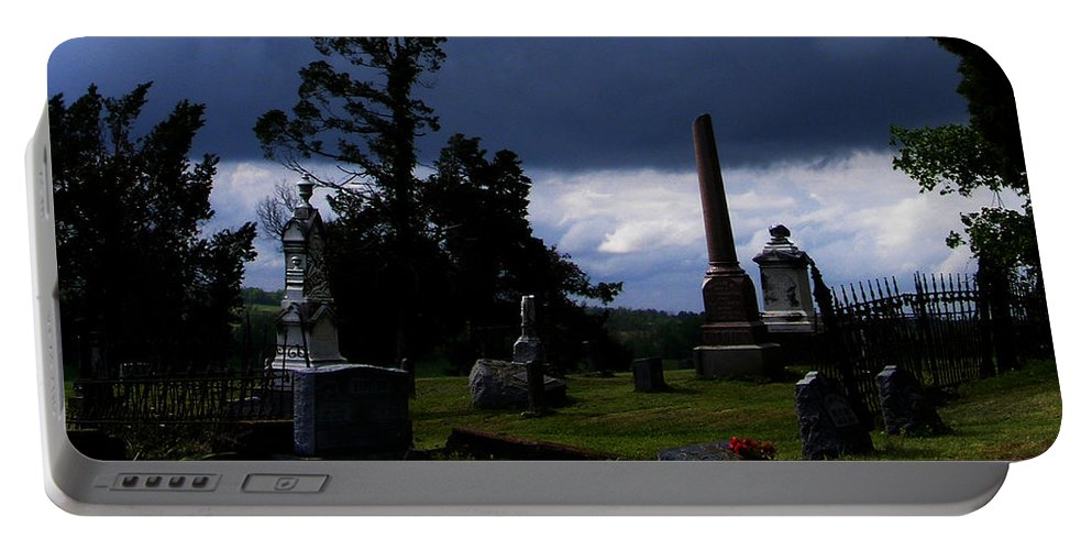 Landscape Portable Battery Charger featuring the photograph Roses After The Storm by Rachel Christine Nowicki