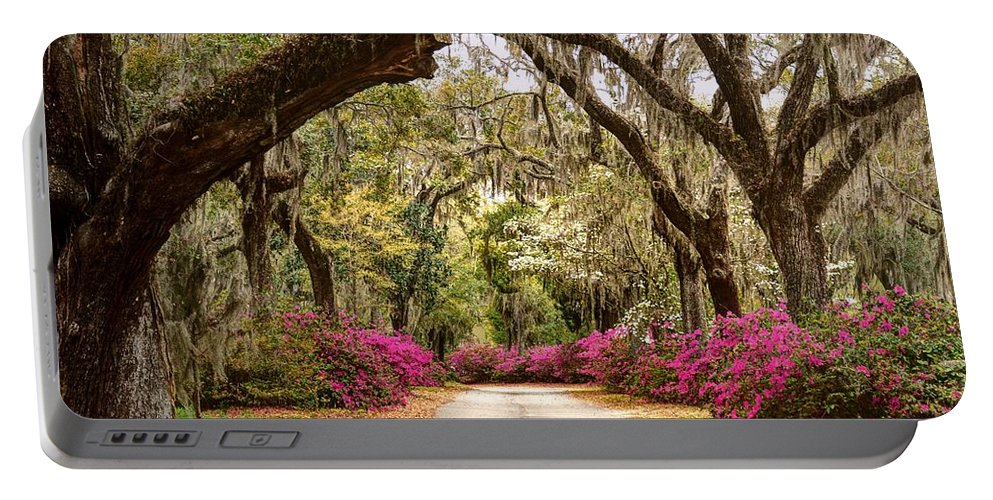 Road Portable Battery Charger featuring the photograph Rosie Road by Jeffrey Schreier