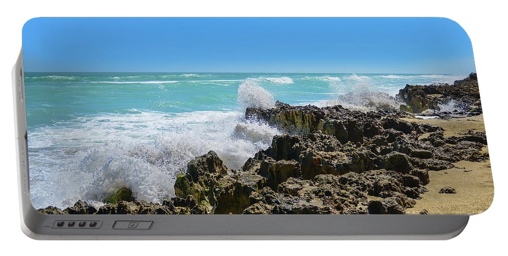 Beach Portable Battery Charger featuring the photograph Ross Witham Beach Hutchinson Island Florida by Olga Hamilton