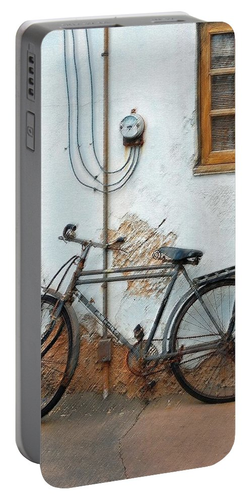 Old Bicycle Portable Battery Charger featuring the photograph Rough Bike by Robert Meanor