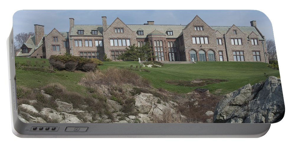 Mansions Portable Battery Charger featuring the photograph Rough Point by Steven Natanson