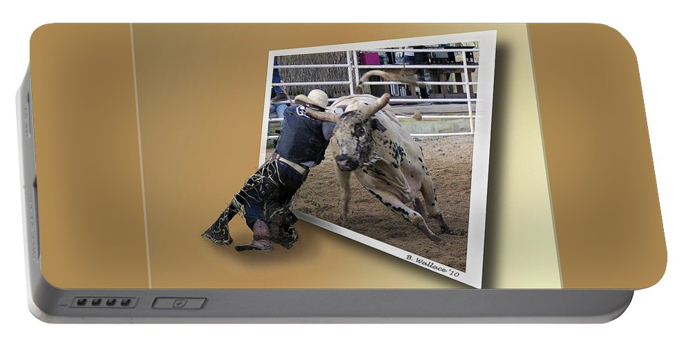 2d Portable Battery Charger featuring the photograph Rough Ride by Brian Wallace