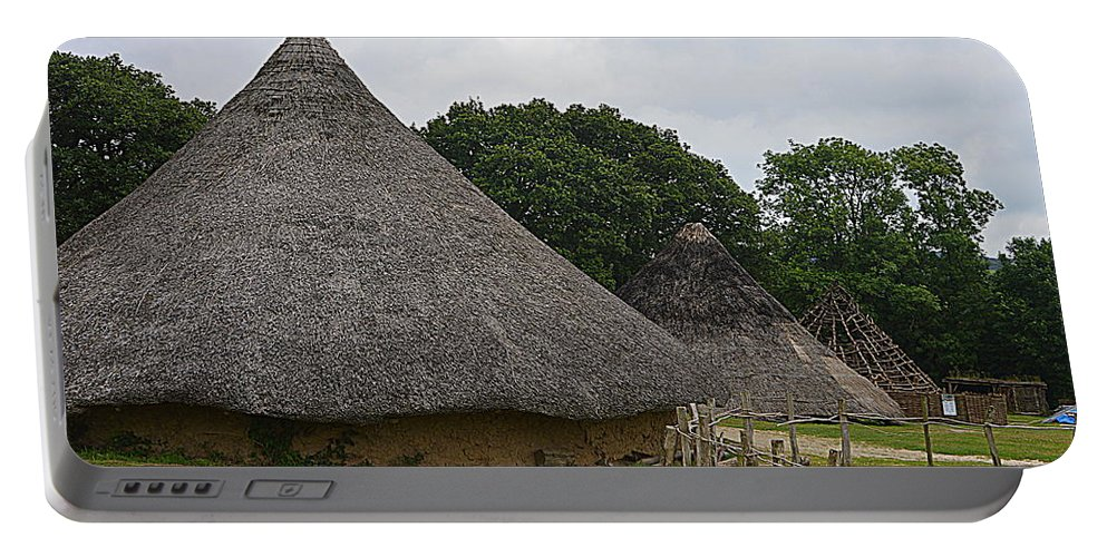 Castell Henllys Portable Battery Charger featuring the photograph Round House by Andy Thompson
