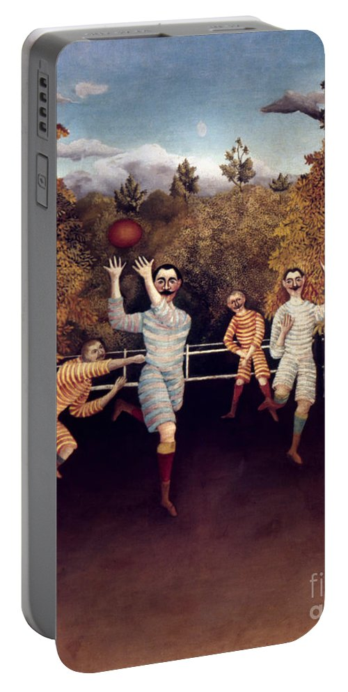 1908 Portable Battery Charger featuring the photograph Rousseau: Football, 1908 by Granger