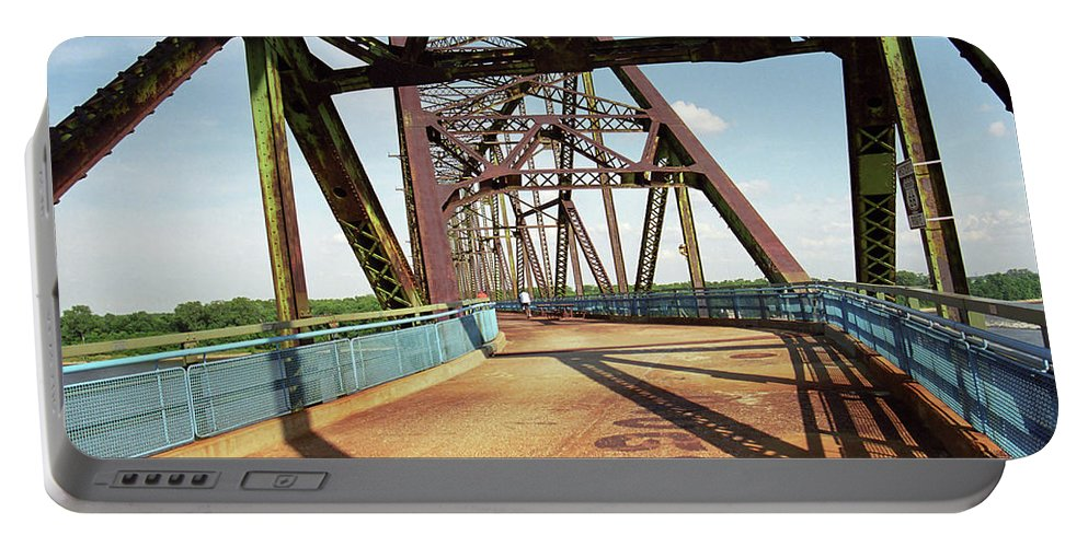 66 Portable Battery Charger featuring the photograph Route 66 - Chain Of Rocks Bridge by Frank Romeo