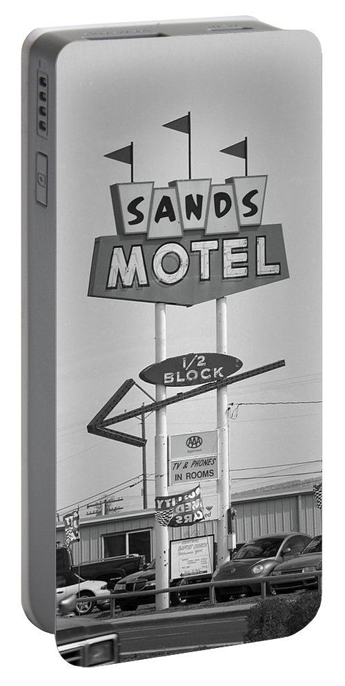 66 Portable Battery Charger featuring the photograph Route 66 - Grants New Mexico by Frank Romeo