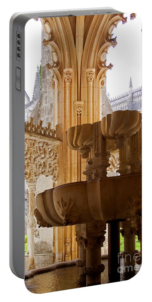 Gothic Portable Battery Charger featuring the photograph Royal Cloister Of The Batalha Monastery by Jose Elias - Sofia Pereira