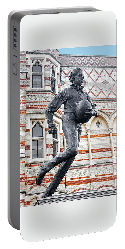 William Webb Ellis Portable Battery Charger featuring the photograph Rugby's Founder William Webb Ellis by Peter Lloyd