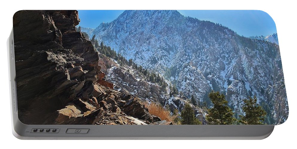 Rugged Portable Battery Charger featuring the photograph Rugged Overlook by Buck Buchanan