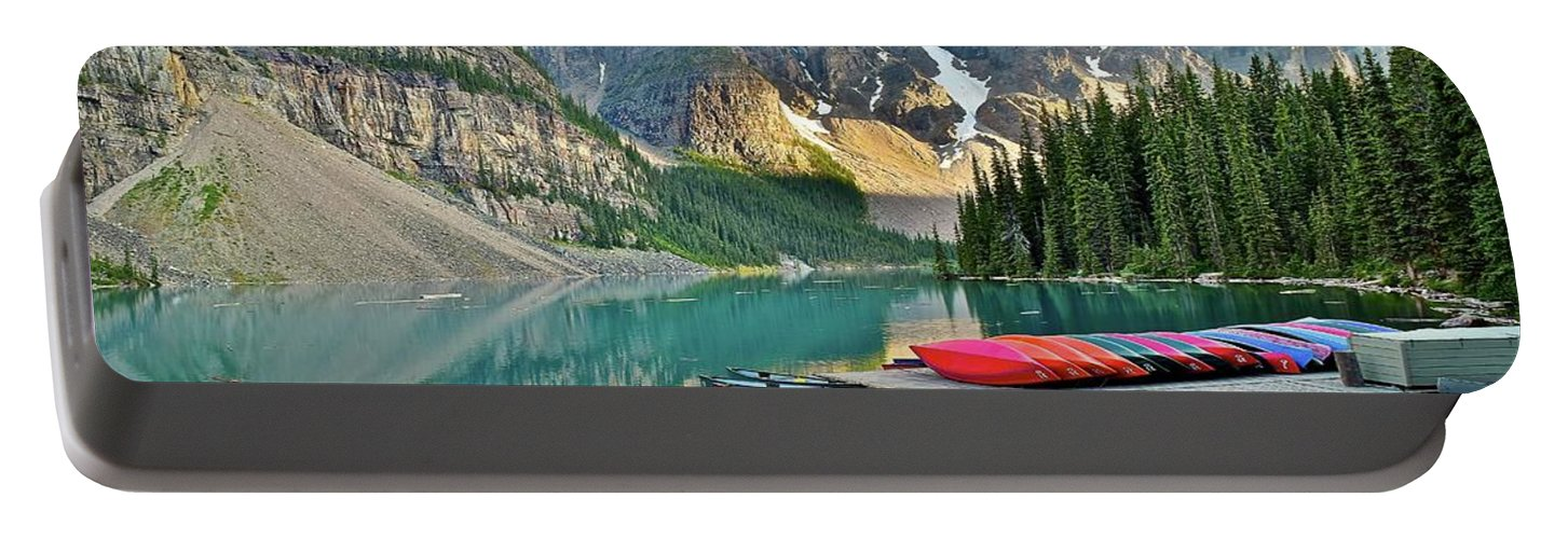 Rugged Portable Battery Charger featuring the photograph Rugged Relaxation by Frozen in Time Fine Art Photography