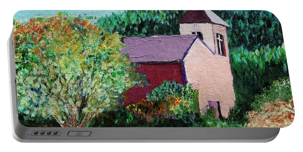 Church Portable Battery Charger featuring the painting Ruidoso by Melinda Etzold