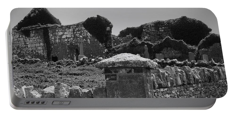 Irish Portable Battery Charger featuring the photograph Ruins In The Burren County Clare Ireland by Teresa Mucha