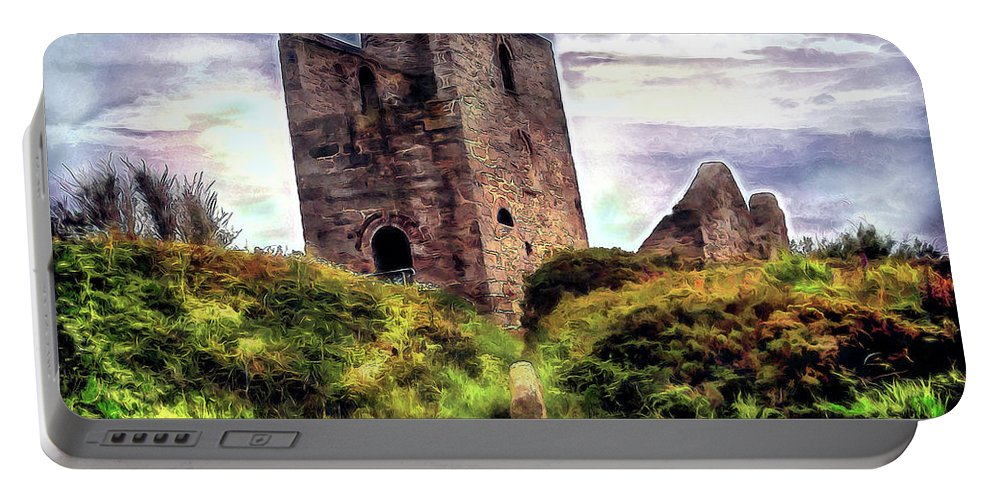 Ruins Portable Battery Charger featuring the digital art Ruins Of The Old Tin Mine by Pennie McCracken