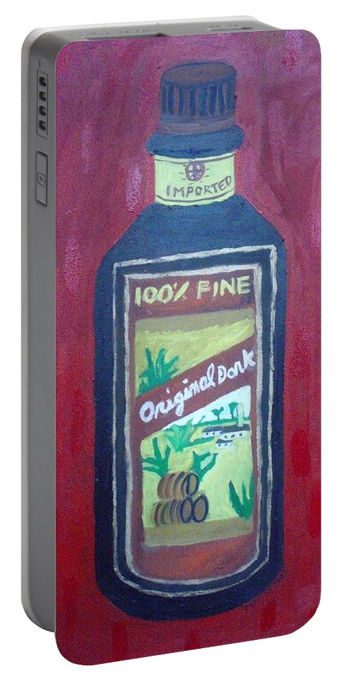 Oil On Canvas Portable Battery Charger featuring the painting Rum by Patrice Tullai