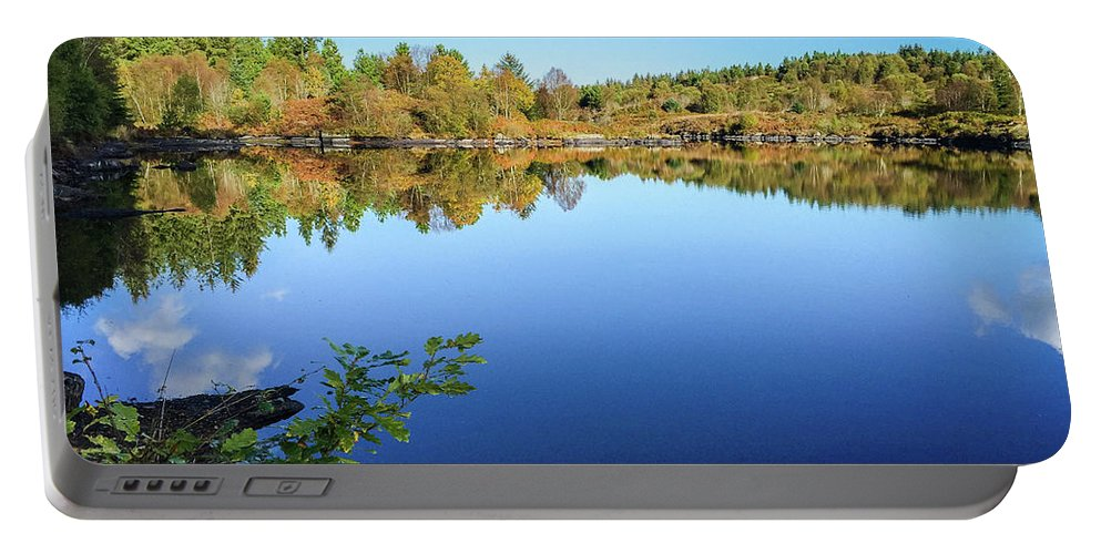 Betws-y-coed Portable Battery Charger featuring the photograph Ruminating The Fall by Geoff Smith